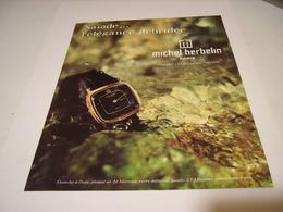 ANCIENNE PUBLICITE MONTRE MICHEL HERBELIN 1980 - Bijoux & Horlogerie