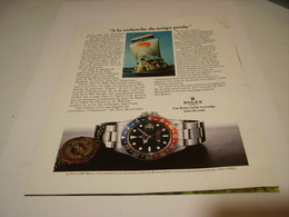 PUBLICITE AFFICHE MONTRE ROLEX A LA RECHERCHE DU TEMP PERDU 1982 - Jewels & Clocks