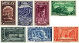Ref. 585251 * HINGED *  - BOLIVIA . 1943. MINING INDUSTRIES. INDUSTRIAS MINERAS - Bolivia