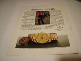 PUBLICITE AFFICHE MONTRE ROLEX AVEC SEVERIANO BALLESTEROS 1982 - Jewels & Clocks