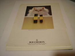 ANCIENNE AFFICHE PUBLICITE MONTRE BOUCHERON 1983 - Autres