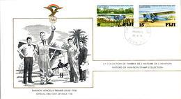1) LETTRE PREMIER JOUR AVIATION - FDC - FEDERATION AERONAUTIQUE INTERNATIONALE - FIDJI FIJI - 26 JE 1978 - Fiji (1970-...)
