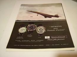 ANCIENNE AFFICHE PUBLICITE MONTRE JAEGER LECOULTRE ET CONCORDE 1969 - Bijoux & Horlogerie