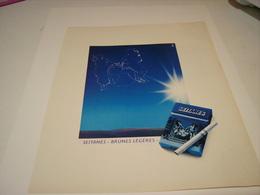 ANCIENNE PUBLICITE CIGARETTE SEITANES BRUNE LEGERE 1982 - Tabac (objets Liés)