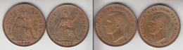 Grande Bretagne  One Penny 1939 + 1946  Great Britain  UK - D. 1 Penny