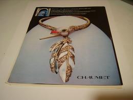 PUBLICITE AFFICHE JOAILLIER CHAUMET 1981 - Bijoux & Horlogerie