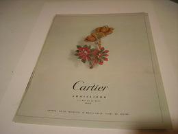 ANCIENNE PUBLICITE JOAILLIER  CARTIER 1983 - Bijoux & Horlogerie