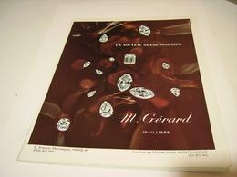 ANCIENNE PUBLICITE JOAILLIER M GERARD 1969 - Bijoux & Horlogerie