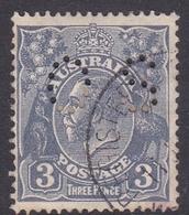 Australia SG O106 1924 King George V,3d Blue,perforated Small OS, Used - 1913-36 George V : Têtes