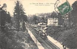 92-SEVRES- LA GARE DE SEVRES- VILLE D'AVRAY- TRAIN VENANT DE VERSAILLES - Sevres