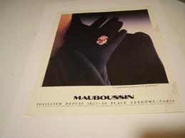 PUBLICITE AFFICHE JOAILLIER MAUBOUSSIN 1982 - Bijoux & Horlogerie