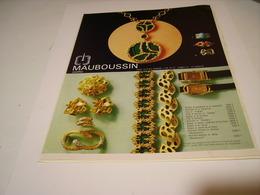 PUBLICITE AFFICHE JOAILLIER MAUBOUSSIN 1972 - Bijoux & Horlogerie
