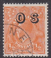 Australia SG O128 1932 King George V,half Penny Orange,overprinted OS, Used - 1913-36 George V : Têtes