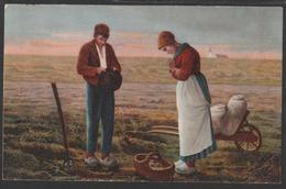 L'Angélus - Les Glaneuses - Tableaux De Jean-François Millet - Lot X 2 - Cartes Ayant Circulé (1904) - Édition Kopal - Peintures & Tableaux