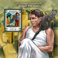 MALDIVES 2018 - Pablo Picasso S/S Official Issue - Picasso