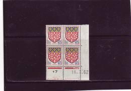 N° 1352 - 0,05F Blason D'AMIENS - A De  A+B - 1° Tirage Du 5.7.62 Au 4.8.62 - 18.07.1962 - - 1960-1969