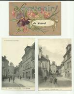 70 - Haute Saone  - Vesoul - Lot De 3 Cartes - Souvenir De .....2 Rue Du Collège Différentes- - Vesoul