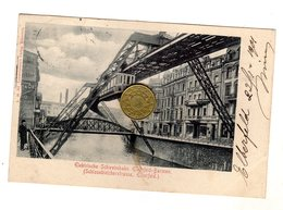 Wuppertal  Sonnborn - Elberfeld - Viaggiata 1901 Elektrische Schwebebahn Elherfeld-Barmen - Wuppertal