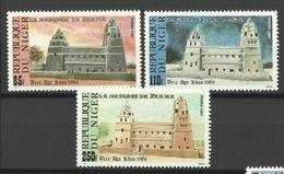 NIGER 1987 YAAMA MOSQUE SET MNH - Niger (1960-...)