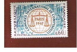 FRANCIA  (FRANCE) - SG 1763  -  1967  ACCOUNTANCY CONGRESS             - MINT ** - Ungebraucht