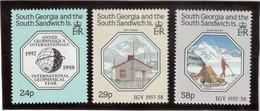 E4 - South Georgia South Sandwich 181/183 ** De 1987 - 30 ème Anniversaire De A G I . - Géorgie Du Sud