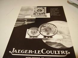 ANCIENNE PUBLICITE JAEGER LECOULTRE 1955 - Autres