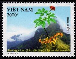 Vietnam - 2017 - Vietnamese Ginseng - Panax Vietnamensis - Mint Stamp - Viêt-Nam