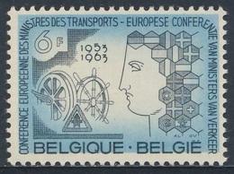 Belgie Belgique Belgium 1963 Mi 1313  YT 1253 Sc 595 ** Eur. Transport Ministers'Conference, Brussels/ Verkehrsminister - Transportmiddelen
