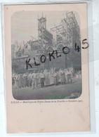 59 LILLE - Basilique De Notre Dame De La Treille - Octobre 1907 - Animé Ouvriers Devant Les Pierres Echafaudage - CPA - Lille