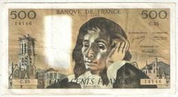 500 F Pascal - 6-12-1973 - C 35 14146 - 1962-1997 ''Francs''