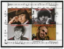 THE BEATLES RINGO STARR On SOUVENIR SHEET 4 STAMPS,MNH,MINT,#O11 - Singers