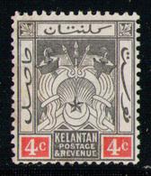 KELANTAN 1922 - From Set MH* - Kelantan