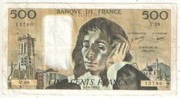 500 F Pascal - 7-6-1979 - V 99 15780 - 1962-1997 ''Francs''