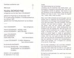 Noëlla Bordeyne (1937-1997) - Devotion Images