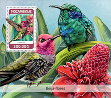 MOZAMBIQUE 2018 - Colibri S/S. Official Issue - Hummingbirds