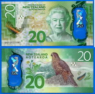 Nouvelle Zelande 20 Dollars 2016 NEUF UNC Polymere Aigle Oiseau Reine New Zealand Prefix BN Polymer - Nouvelle-Zélande