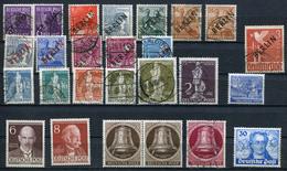 BERLIN Dubletten-Lot Gestempelt, Postfrisch, Wenige Gefalzt .... (G 1) - Briefmarken