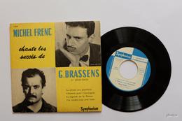45 T EP MICHEL FRENC CHANTE GEORGES BRASSENS LA CHASSE AUX PAPILLONS + 3 DISQUE SYMPHONIUM 1.214 - 45 Rpm - Maxi-Single