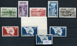 DEUTSCHES REICH / GEBIETE / SAAR Dubletten-Lot Gestempelt, Postfrisch, Gefalzt .... (G 5) - Briefmarken