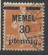 Memel - 1920 - Usato/used - Sovrastampati - Mi N. 21 - Usati
