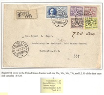 Vatican Vaticana Vaticane Vaticano Registered Envelope -4.9.29 - Vatican
