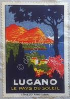 Erinnofilia Svizzera 1937 - Pubblicità Città Di Lugano - Su Busta Per Milano - Italie