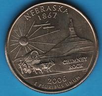 USA ¼ Dollar Washington Quarter 2006 P NEBRASKA KM# 383 Chimney Rock - 1999-2009: State Quarters
