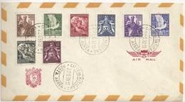 Vatican Vaticana Vaticane Vaticano First Airmail Set FDC - FDC