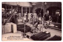"""1909 - """" En Bourgogne """" - Maison Paul Court à Dijon - Habillage Et Emballage Des Bouteilles - N°9 - - Vignes"""
