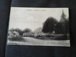 BELVAL L' EGLISE  ET LA MAIRIE ANIMATION EDITEUR GASPILLAGE PAPETERIE A CHARLEVILLE - Charleville
