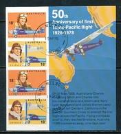 AUSTRALIEN Mi.Nr. Block 3 50. Jahrestag Des 1. Trans-Pazifik-Fluges: Australische Piloten - Used - Blocchi & Foglietti