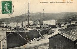 "CORSE - BASTIA - Le Navire ""LE BALKAN"" à Quai  - Bâtiments De La Cie Fraissinet - 1908 - Bastia"