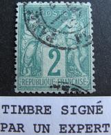 LOT R1749/206 - SAGE TYPE I N°62 ☛ Signé ROUMET + CALVES (experts) - CàD De PARIS - BON CENTRAGE - Cote : 340,00 € - 1876-1878 Sage (Type I)