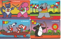 SAN MARINO - Set Of 4 Cards, Le Olympiadi(QA-QBQC-QD), Tirage 14000, 09/00, Mint - San Marino